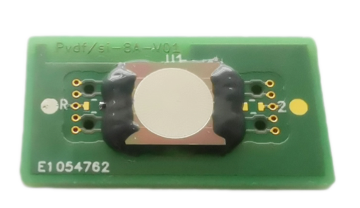 High frequency annular array (>30 MHz) based on a piezoelectric copolymer (PVDF-TrFE) on Silicon mounted on a PCB